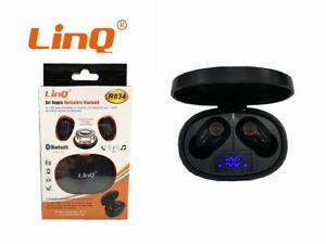 Set Doppio Auricolare Cuffie Bluetooth Mini Con Box Base Ricarica Linq R834