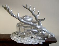 B.P.O.E.Elks Cast Aluminum Elk Head Inkwell Desk Set San Pedro Calif.