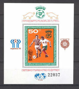 Soccer 1978 A30 MNH Argentina Bulgaria block CV 30 eur