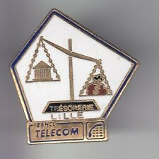 RARE PINS PIN'S .. PTT LA POSTE FRANCE TELECOM BALANCE TRESORERIE LILLE 59 ~DE