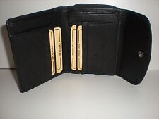 REAL LEATHER ZIP TOP PURSE WITH FRONT PRESS-STUD FASTENING FLAP 51145