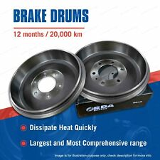 Pair Rear Brake Drums for Honda Civic SL WC Rover Quintet Premium Quality