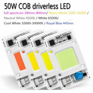Driverless 50W COB LED Chip Smart IC waterproof 110/220V no welding Light Lamp