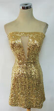 NWT WINDSOR $83 Gold Cocktail Dance Prom Party Dress 7