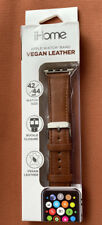 Apple iWatch Watch Brown Vegan Leather Replacement Band 42/44 mm ihome