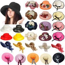 Lot Woman Hat Ladies Fashion Vintage Style Wide Large Brim Floppy Sun Straw Hat