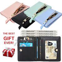 Women Men ID Credit Card Holder Business Pocket Case Slim Purse Wallet Unisex