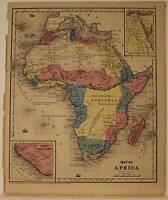 REDUCED $$ Antique Burgess Map 1853 Africa Madagascar Liberia Sierra Leon Egypt