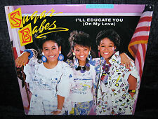 SUGAR BABES I'll Educate You...(1986 U.S. Gold Foil Stamped Picture Cover Promo)