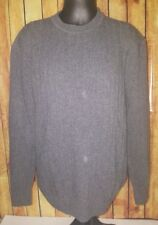 GIORGIOLINI 100% Wool Gray crewneck Sweater size Large Italy men pullover