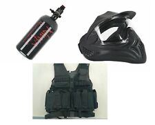 Paintball Accessory Package - Tank / Vest / Goggle