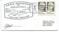 1984 USGS Expedition LEG I Wilkes Land Ross Sea Polar Antarctica Cover SIGNED