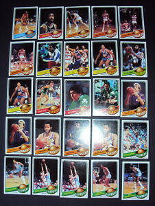 1979 Topps Basketball 115 Card Lot (Clean)-C