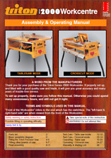 Triton Workcentre Series 2000 WCA200 Assembly & Operating Manual
