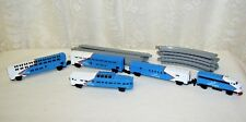 Vintage Micro Machines Train and Track 1989 Galoob Lines Red White and Blue