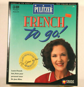 RXL Pulitzer French To Go - Factory Sealed 1996 edition CD-ROM - Big Box