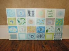Numbers canvas/wall art/décor for nursery or boy's room