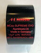 Mundorf Mcap 800 Vdc Supreme Evo Alum Oil Cap Capacitor 10uf 10.0 10 uf