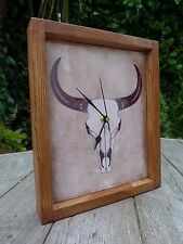 Trophy Tile desk / wall clock, handmade, handcrafted