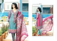 Pakistani Lawn Suit Designer Embroidere 015 Suit Salwar Kamzee FREE SHIP);]]