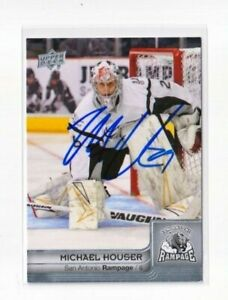 MICHAEL HOUSER autographed SIGNED '14 Upper Deck AHL card BUFFALO SABRES