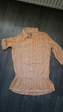 Soccx Bluse woman Tunika orange Bluse  L oder 40, 3/4 Arm zum hochkrempeln