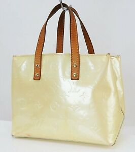 Auth LOUIS VUITTON Reade PM Vernis Pearl Leather Tote Hand Bag Purse #40089