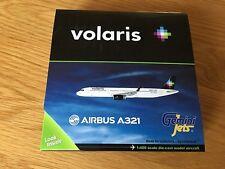 VOLARIS Airbus A321 Diecast Metal Gemini Jet Model 1:400 GJVOI Reg XA-VLH Mex