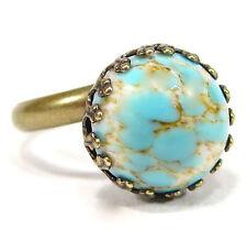 Soho ® anillo bronce Bohemia 12mm turquesa Matrix neceseres Bohemia piedra de cristal
