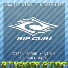 RIP CURL VINYL DECAL/STICKER (30cm, White)  WINDOW, CAR STICKER, SURFING, SURF