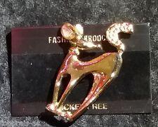 Brosche Hund Haustier Anstecknadel Pin Brooch 60x40mm vergoldet Anstecker