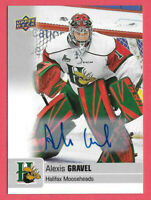 2019-20 Alexis Gravel Upper Deck CHL Rookie Auto - Chicago Blackhawks