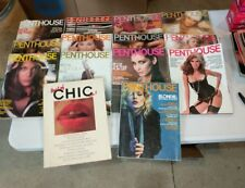 Lot of 14 Vintage Adult Mens magazines Penthouse 1976 - 1980 Various 70s Blondie