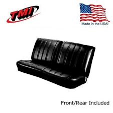 1966 Chevelle Coupe Black Front/Rear Bench Seat Upholstery by TMI - IN STOCK!!