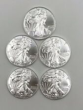 2015  AMERICAN SILVER EAGLE LOT OF 5  COINS  GEM-CHBU