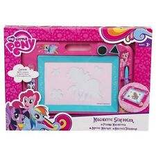 MY LITTLE PONY MLP Magnetic Scribbler With Stamps & Pen NEW