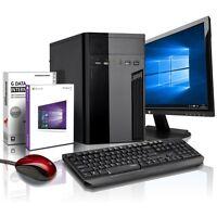 """Komplett PC-Paket AMD Quad 4x2 GHz - 4GB - 320GB - Radeon 8400 - 22"""" TFT FullHD"""