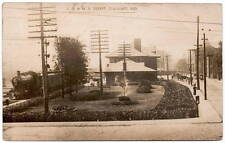 Real Photo Postcard L.S. & M.S. Railroad Depot in Elkhart, Indiana~105843