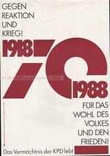 KPD COMMUNISTIC PARTY IS STILL ALIVE RARE PROPAGANDA GDR PROPAGANDA POSTER 1988