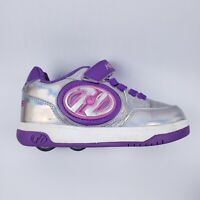 Heelys Roller Sneakers Purple/Gray Youth Size 2 Skate Shoes