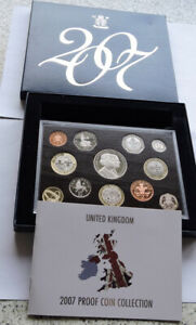 2007 Royal Mint 12 Coin Proof Set Boxed With COA