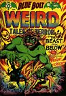 Blue Bolt Weird Tales of Terror 112 Comic Book Cover Art Giclee Repro on Canvas