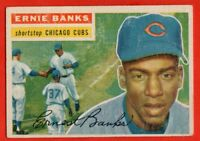 1956 Topps #15 Ernie Banks VG-VGEX+ WRINKLE MARKED Chicago Cubs FREE SHIPPING
