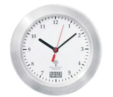 Mebus Badezimmeruhr Funk Wanduhr Saugnäpfe Thermometer Uhr 17 cm Funkuhr Weiss