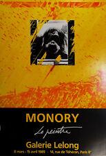 Jacques Monory -El pintor. Cartel exposicion galeria Lelong 1989