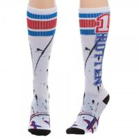 Suicide Squad Harley Quinn Rotten White and Blue Knee High Socks