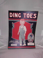 VTG Sheet Music: Ding Toes 1920 by Caddigan & Story Sung by Francis White