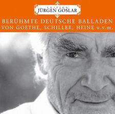 CD Célèbre Allemande Ballades de Jürgen Goslar Edition