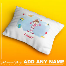 Personalised Space Pillow Case Cushion Cover Custom Made Print Kids Children