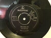 "The Beatles – She Loves You - 7"" Vinyl Single 1963-Parlophone  R5055 - REF.7265"